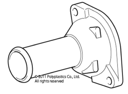 polyplastics cooling system part