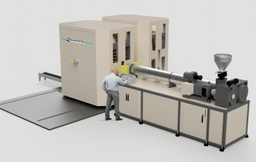 Wilmington presents new dual rotary blow molding machine