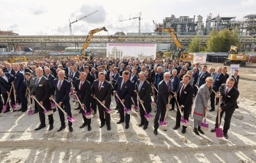 Evonik's groundbreaking ceremony of the new polyamide 12 complex