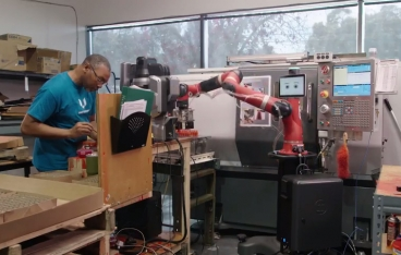 Sawyer robot at injection molding facilities