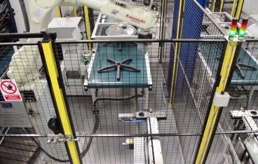 Robot Cell pulls chair-base production back to the UK
