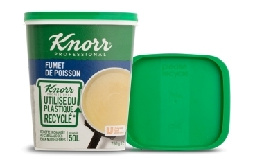 First bouillon packaging made from circular polymer