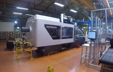 Negri Bossi Injection Moulding & Box Packaging Automation Cell with Product Sampling
